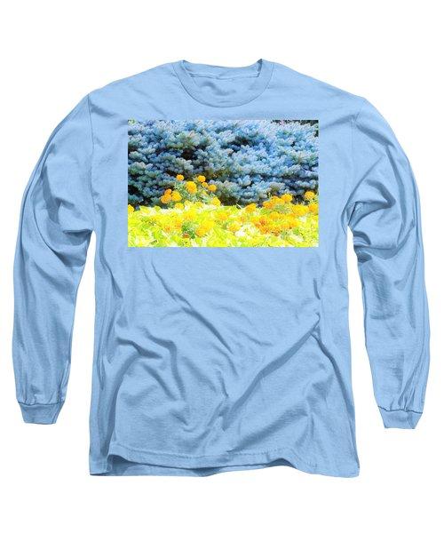 Yellow, Blue, Orange Long Sleeve T-Shirt