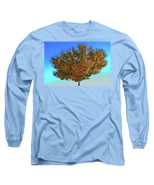 Yellow Tree Blue Sky Long Sleeve T-Shirt