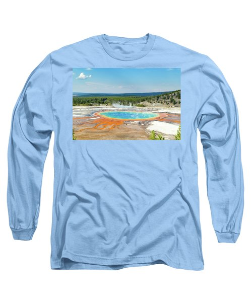 Yellowstone Grand Prismatic Spring  Long Sleeve T-Shirt