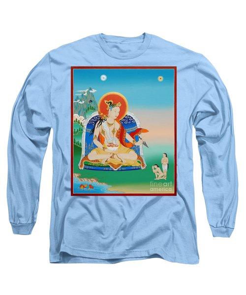 Yeshe Tsogyal Long Sleeve T-Shirt by Sergey Noskov