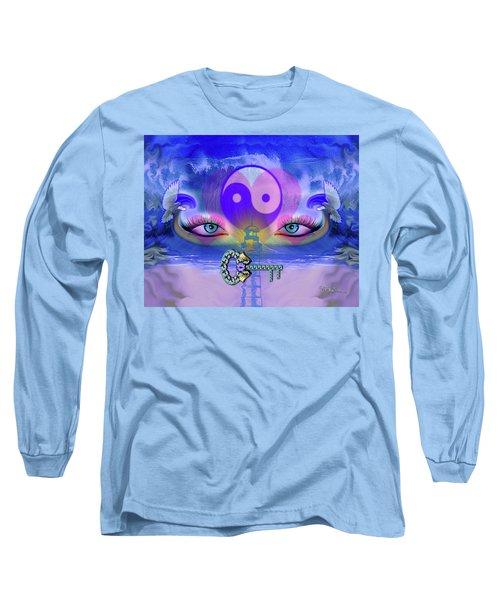 Yin Yang Key To Peace #190 Long Sleeve T-Shirt