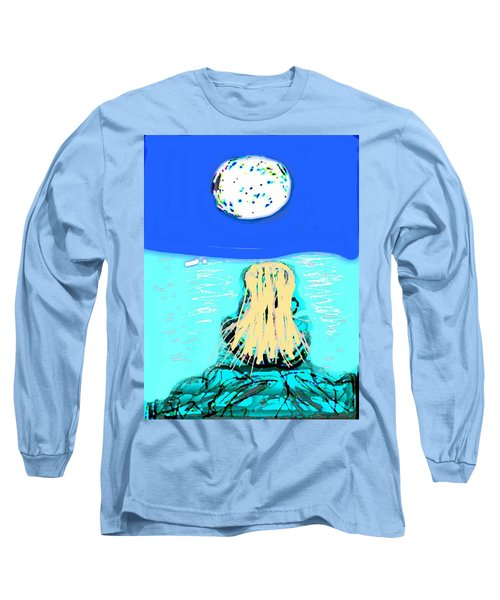 Yoga By The Sea Under The Moon Long Sleeve T-Shirt