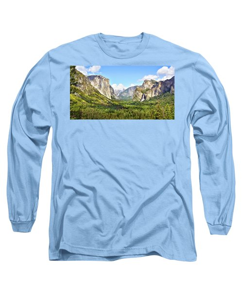 Yosemite Tunnel View Afternoon Long Sleeve T-Shirt