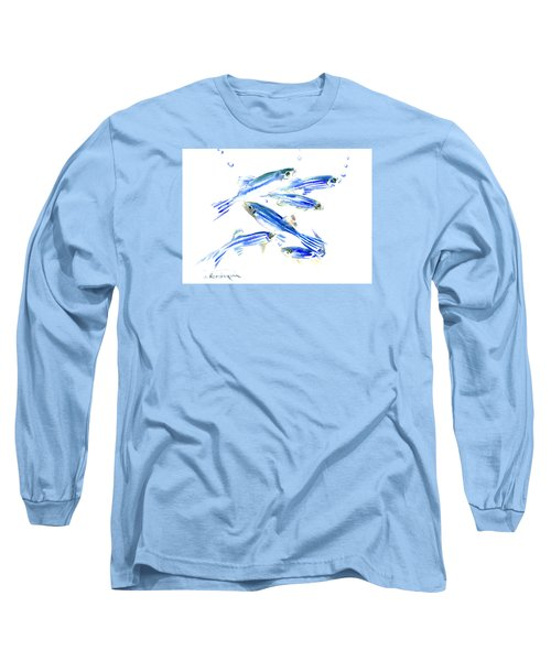 Zebra Fish, Danio Long Sleeve T-Shirt by Suren Nersisyan