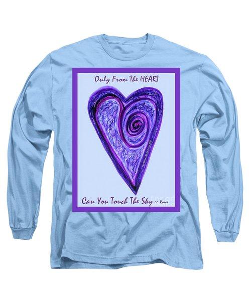 Zen Heart Pink Purple Vortex Long Sleeve T-Shirt