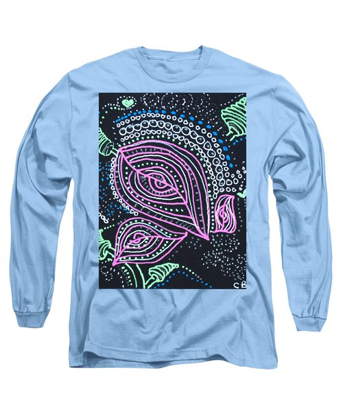Zentangle Flower Long Sleeve T-Shirt
