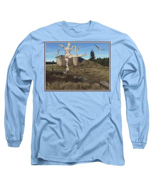 Zombie Near The Ruins Long Sleeve T-Shirt