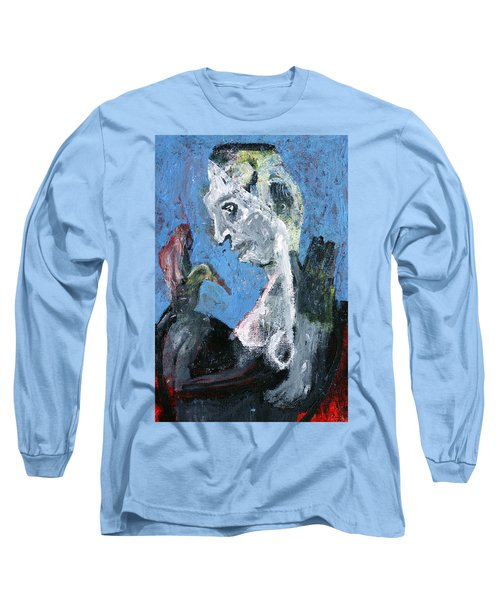 Portrait With A Bird Long Sleeve T-Shirt
