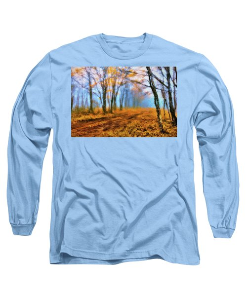 A Foggy Autumn Blue Ridge Morning Ap Long Sleeve T-Shirt
