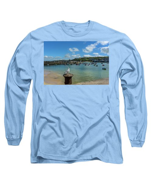 A Seagull Dreaming At The Harbour Long Sleeve T-Shirt