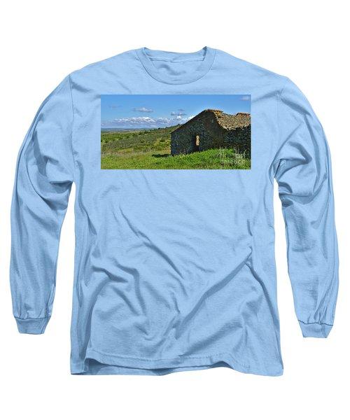 Abandoned Cottage In Alentejo Long Sleeve T-Shirt