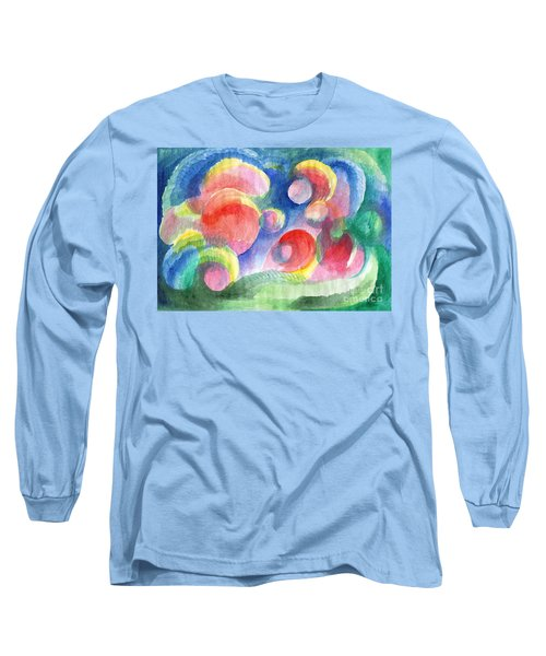 Abstract Bubbles Watercolor Long Sleeve T-Shirt