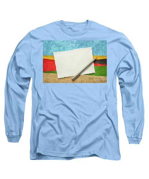 Abstract Landscape With A Blank Note Long Sleeve T-Shirt