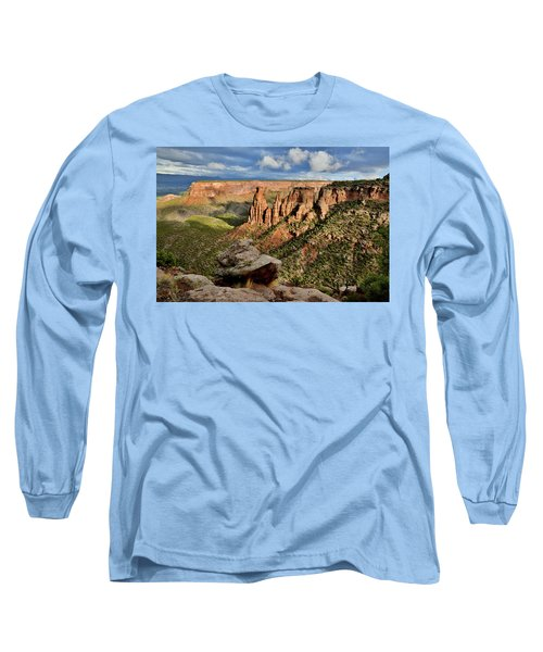 After The Storm Light On Colorado National Monument Long Sleeve T-Shirt
