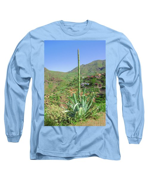 Agave With Flower Spear In Masca Long Sleeve T-Shirt