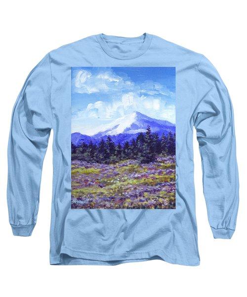 Alpine Meadow Sketch Long Sleeve T-Shirt