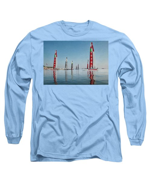 America Cup Boat Reflections Long Sleeve T-Shirt