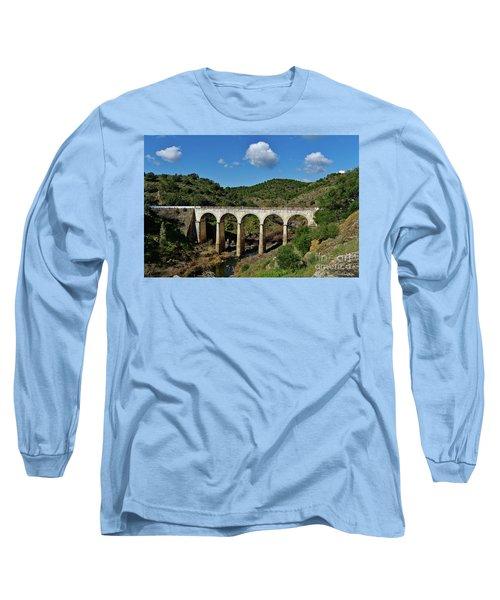 Antique Mertola's Bridge In Alentejo Long Sleeve T-Shirt