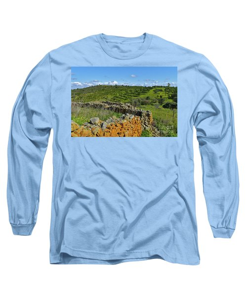 Antique Stone Wall Of An Old Farm Long Sleeve T-Shirt