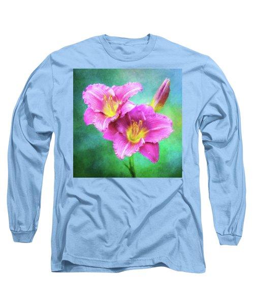 Dynamic Daylily Duo Long Sleeve T-Shirt