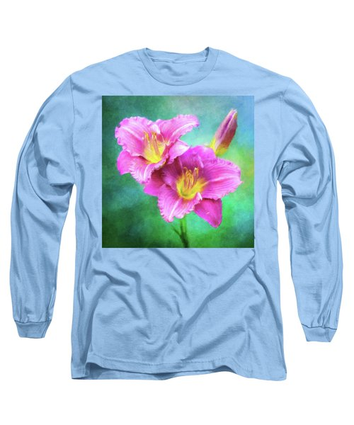 Dynamic Daylily Duo Long Sleeve T-Shirt