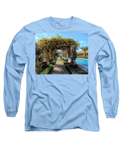 Awesome Getty Villa Landscape Walkway Pool California  Long Sleeve T-Shirt