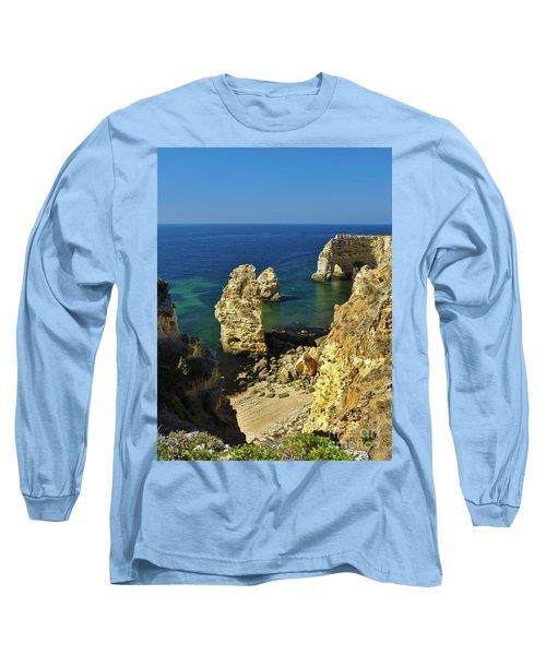 Beautiful Marinha Beach From The Cliffs Long Sleeve T-Shirt
