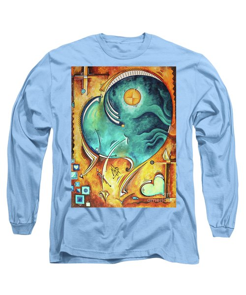 Beautiful Whimsical Heart Love Symbolic Painting Live Your Truth By Madart Megan Duncanson Long Sleeve T-Shirt
