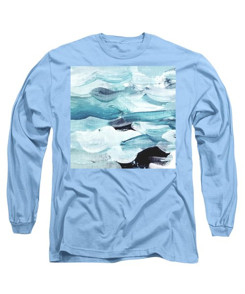 Long Sleeve T-Shirt featuring the painting Blue #13 by Maria Langgle