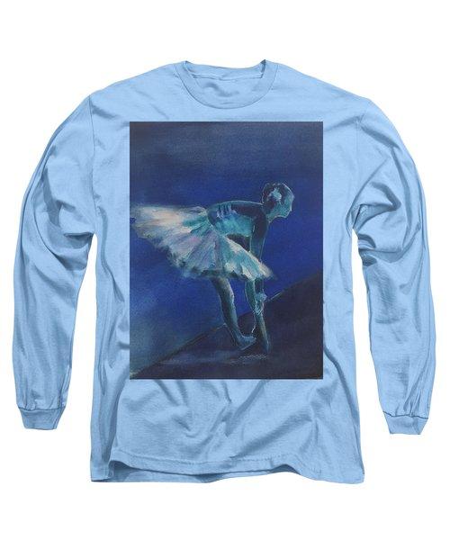 Blue Ballerina Long Sleeve T-Shirt