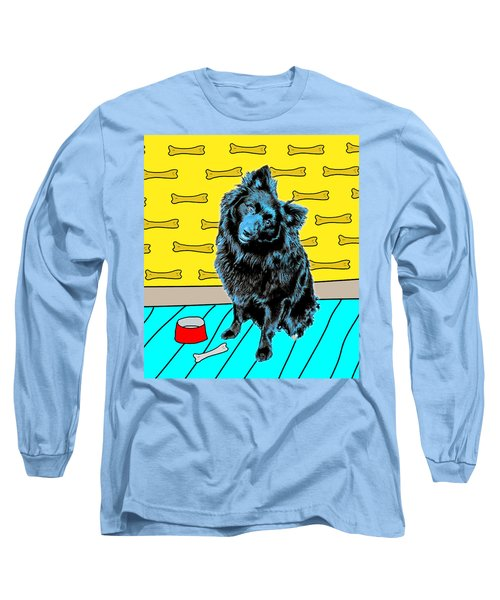 Long Sleeve T-Shirt featuring the photograph Blue Dog by Lou Novick