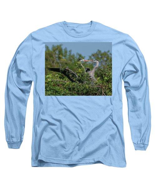 Breeding Herons Long Sleeve T-Shirt