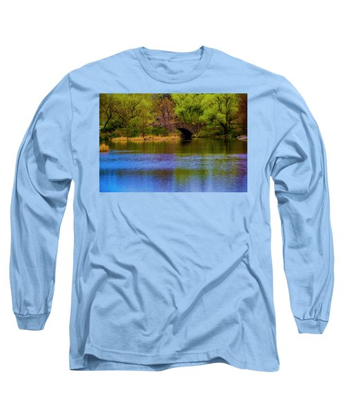 Bridge In Central Park Long Sleeve T-Shirt