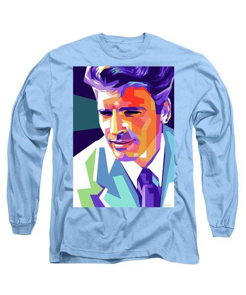 Burt Lancaster Pop Art Long Sleeve T-Shirt