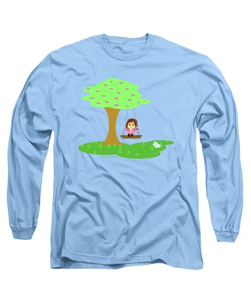 Cathy And The Cat Play In The Swing Long Sleeve T-Shirt