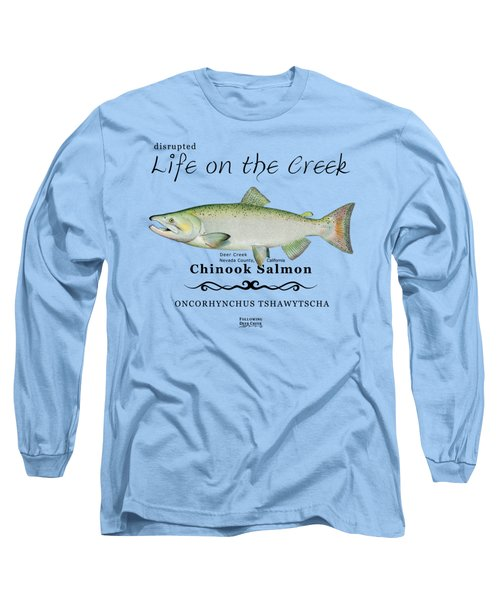 Chinook Salmon Disrupted Long Sleeve T-Shirt