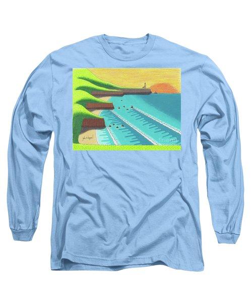 Cliffside Sunset  Long Sleeve T-Shirt