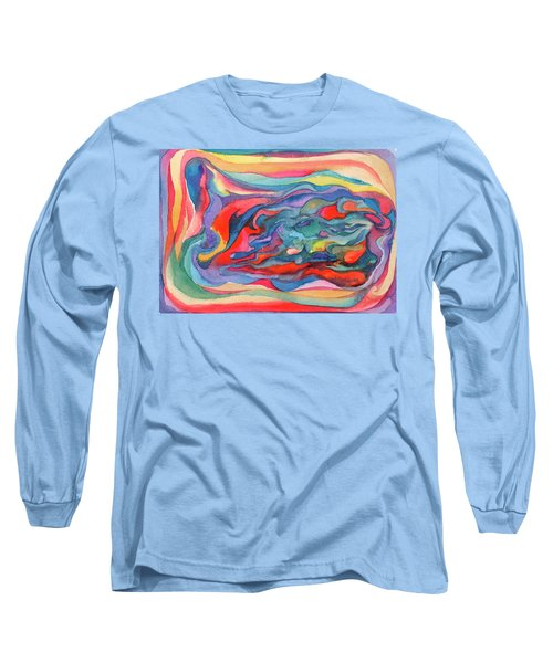 Colorful Abstract Palette Long Sleeve T-Shirt