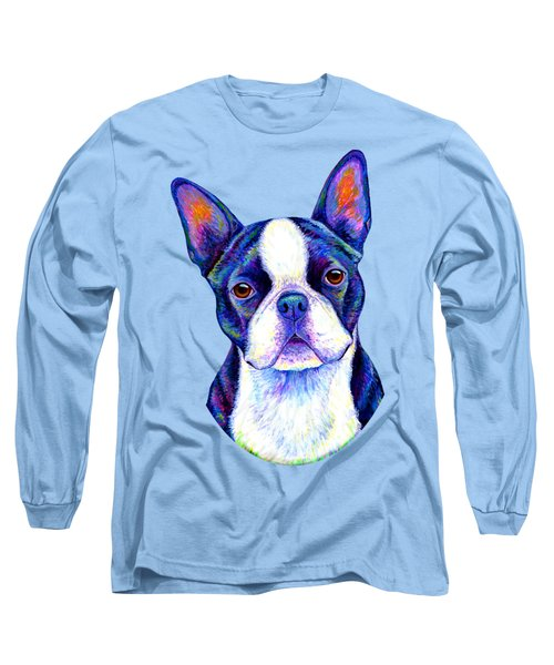 Colorful Boston Terrier Dog Long Sleeve T-Shirt