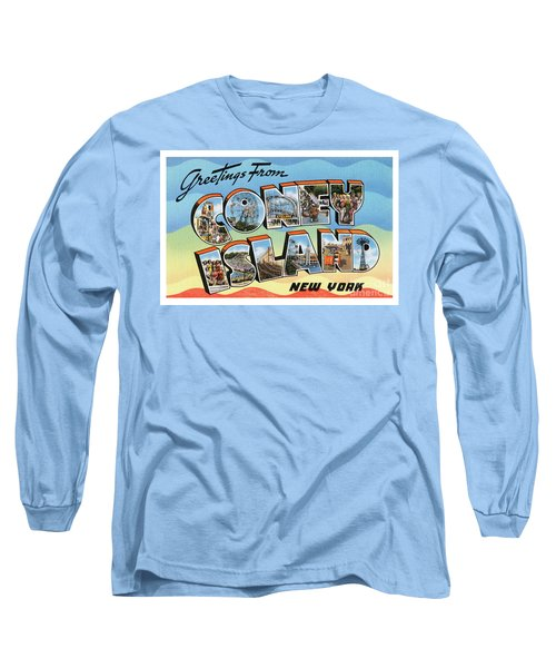Coney Island Greetings - Version 2 Long Sleeve T-Shirt