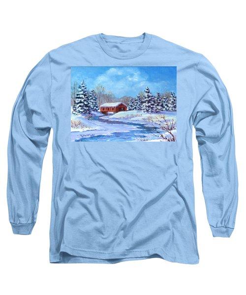 Covered Bridge Sketch Long Sleeve T-Shirt