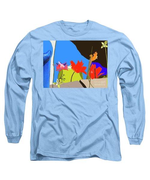Dads Garden Mixed Media Long Sleeve T-Shirt