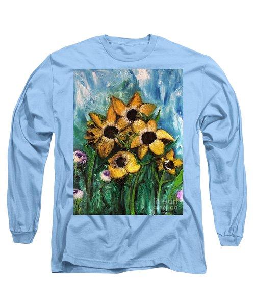 Dancing Flowers Long Sleeve T-Shirt