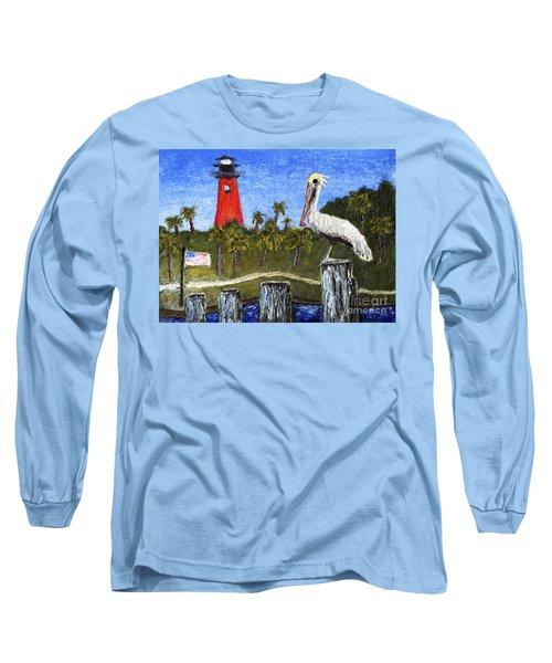 Aceo Dawn At Jupiter Inlet Lighthouse Florida 52a Long Sleeve T-Shirt