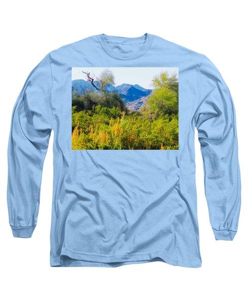 Deep Desert Valley In A Sonoran Desert Spring Long Sleeve T-Shirt