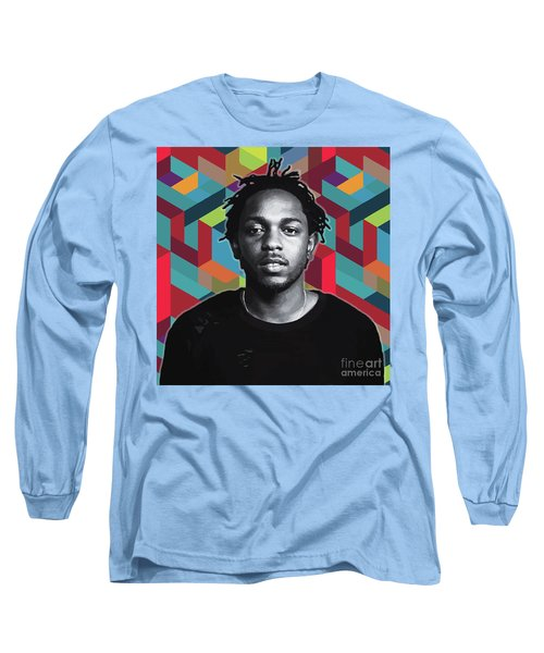 Long Sleeve T-Shirt featuring the painting Don't Kill My Vibe Kendrick by Carla B