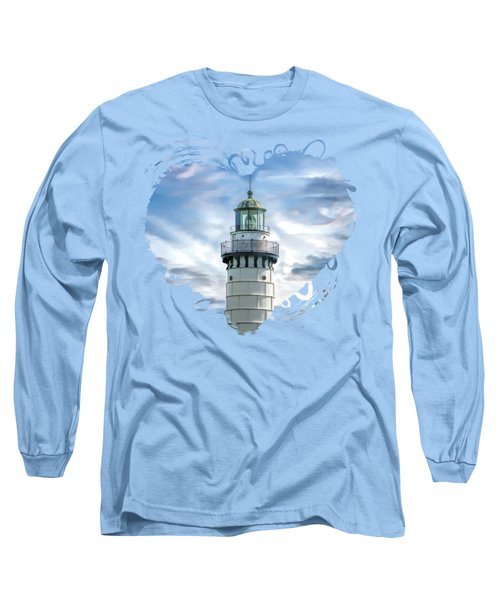 Door County Cana Island Beacon Long Sleeve T-Shirt