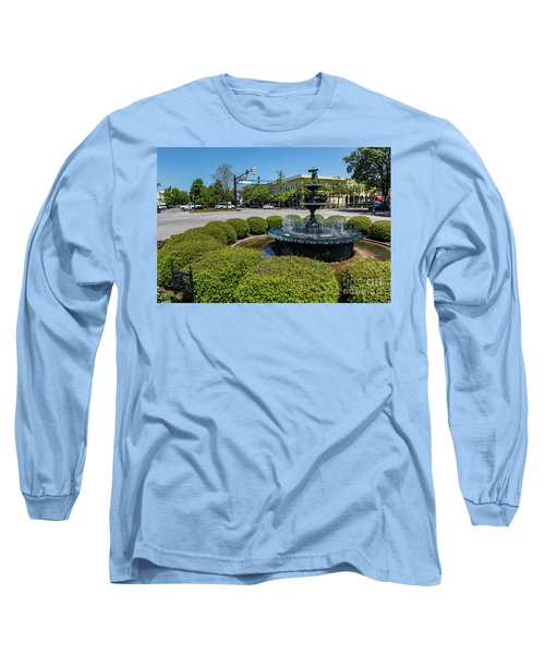 Downtown Aiken Sc Fountain Long Sleeve T-Shirt
