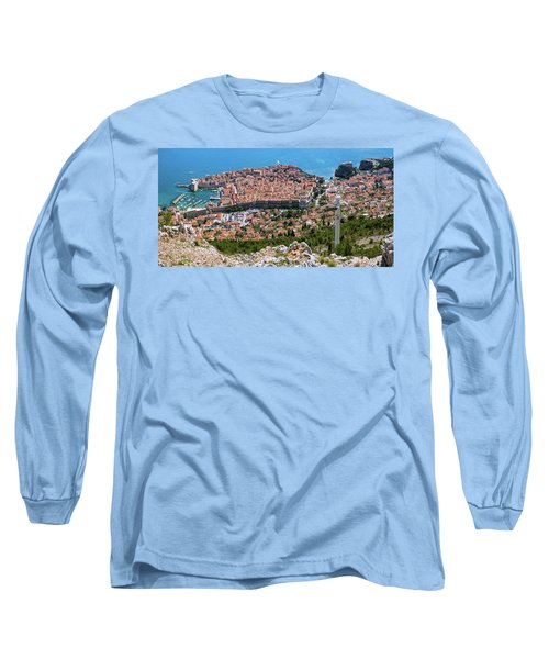 Dubrovnik Panorama From The Hill Long Sleeve T-Shirt