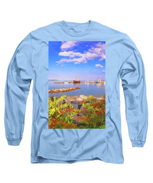 Evening At The York River In Yorktown Virginia Long Sleeve T-Shirt